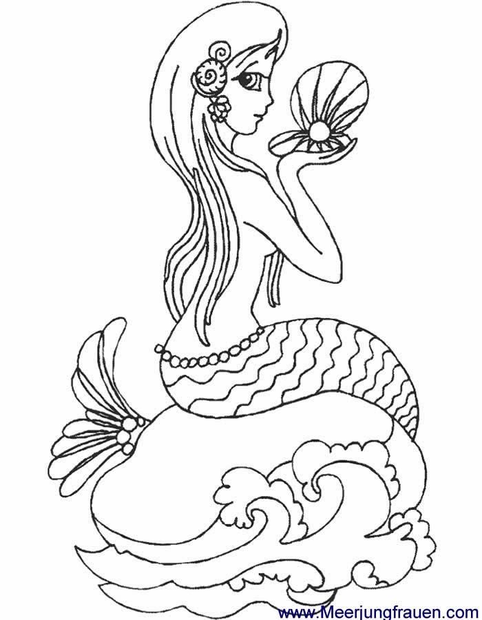 Ausmalbilder Meerjungfrau Malvorlagen für Kinder