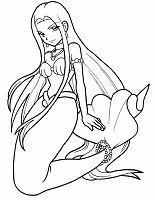Ausmalbild Meerjungfrau Kind Spielt Mit Delfin Malvorlage